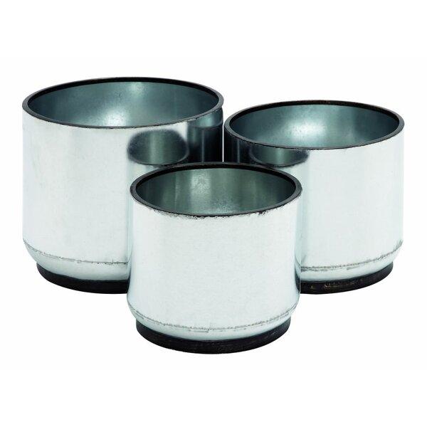 Cole grey 3 piece iron pot planter set reviews wayfair for Decor containers coles