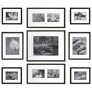 Norma 9 Piece Wood Picture Frame Set
