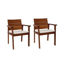 Bridgepointe Eucalyptus Stacking Dining Arm Chair