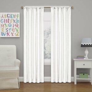 Columbia Solid Blackout Thermal Rod Pocket Single Curtain Panel  Short Blackout Curtains