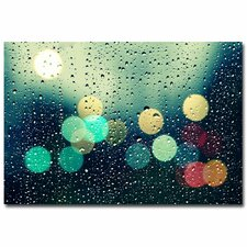 """Rainy City"" by Beata Czyzowska Young Photographic Print on Wrapped Canvas"