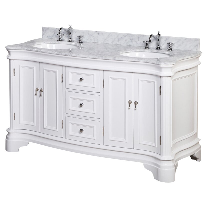 "Katherine 60"" Double Bathroom Vanity Set & Reviews"