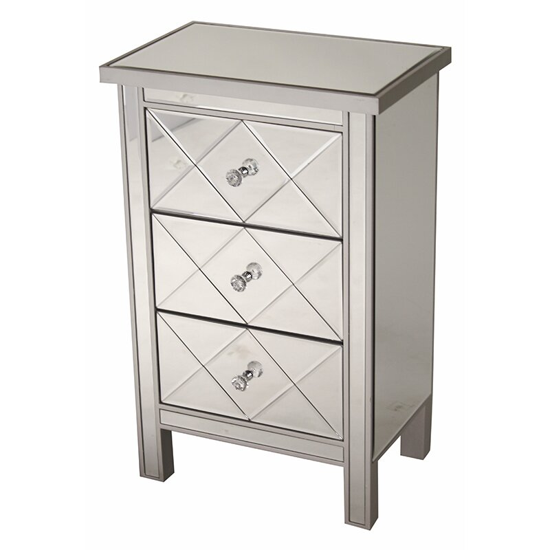 Willa Arlo Interiors Channelle 3 Drawer Accent Chest Reviews