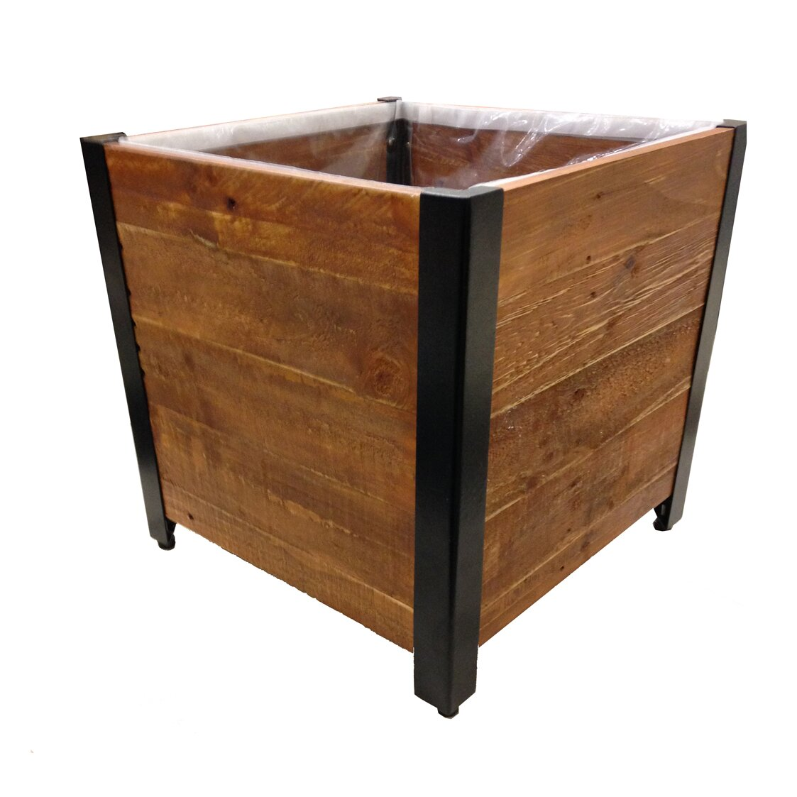 Grapevine square urban garden recycled wood planter box for Wayfair garden box