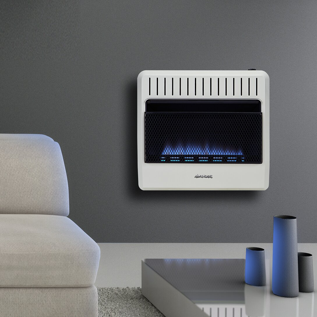Wall Mount Heater With Thermostat : Avenger dual fuel ventless btu natural gas