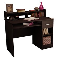 Axess 1 Drawer Computer Desk with Hutch