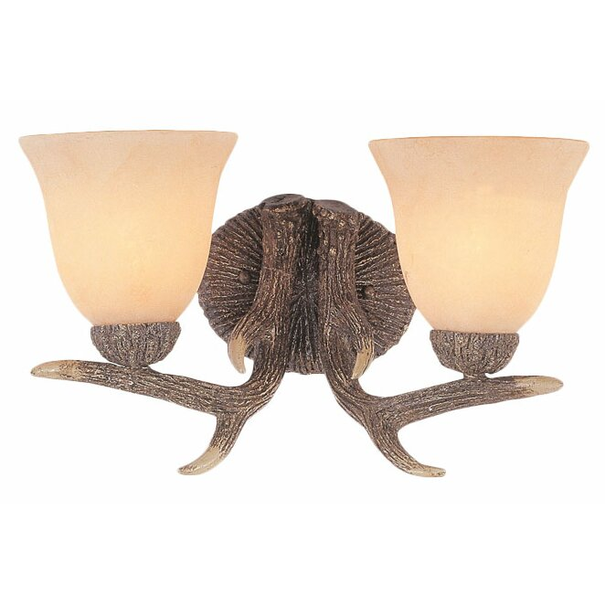 Deer Bathroom Vanity Lights : TransGlobe Lighting Deer Antler 2-Light Vanity Light & Reviews Wayfair