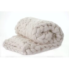 Vallon Chunky Knit Merino Wool Throw