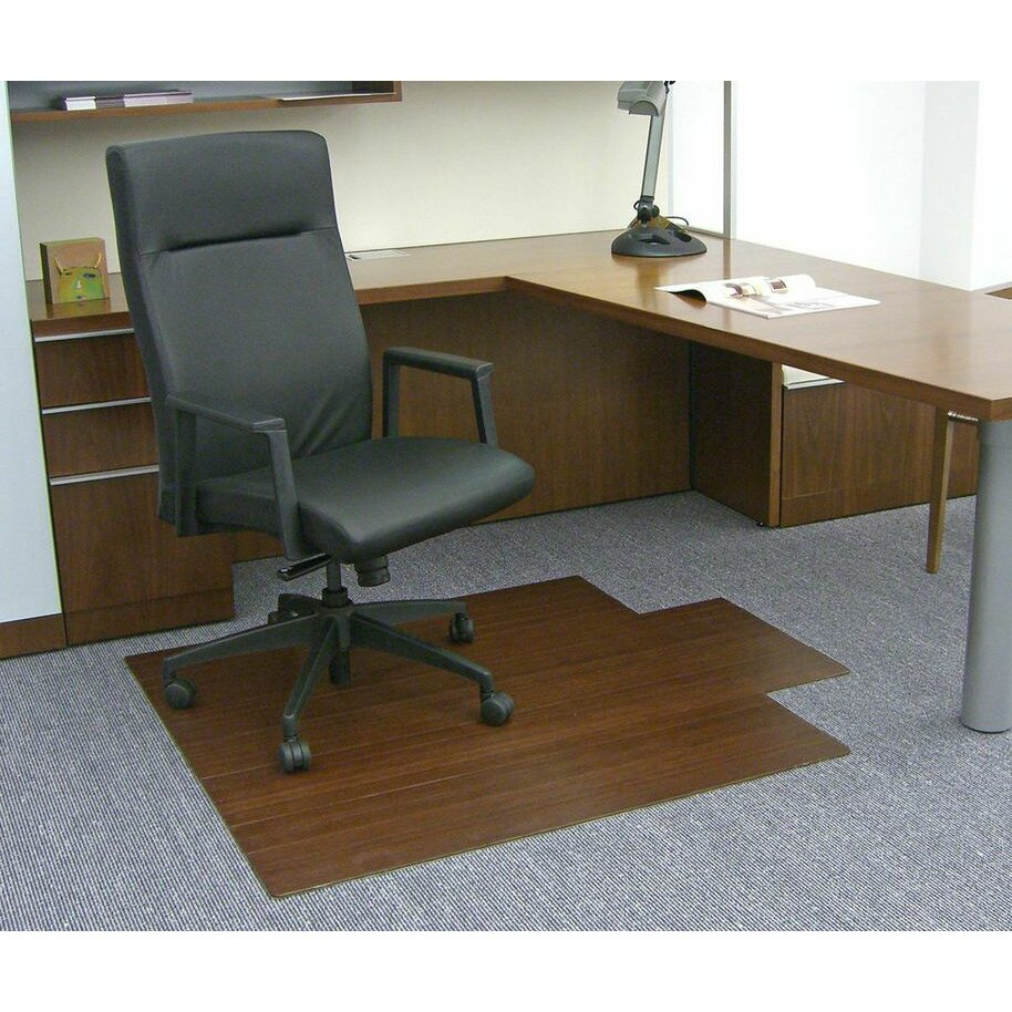 wildon home low pile and hardwood bamboo office chair mat reviews wayfair. Black Bedroom Furniture Sets. Home Design Ideas