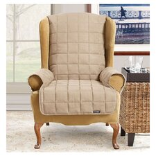 Waterproof Soft Suede Wingchair Slipcover  by Sure Fit