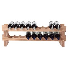 Stackable Rack 18 Bottle Tabletop Wine Rack