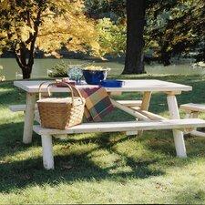 Cedar Log Picnic Table