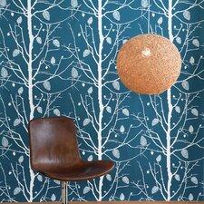 "Family Tree Wallsmart 33' x 21"" Botanical Wallpaper Roll"