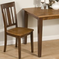 Triple Upright Solid Wood Dining Chair (Set of 2)