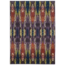 Prismatic Abstract Purple/Orange Area Rug
