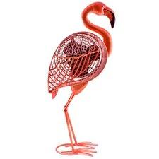 "Flamingo Figurine 7"" Table Fan"