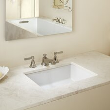 Verticyl Rectangular Undermount Bathroom Sink with Overflow