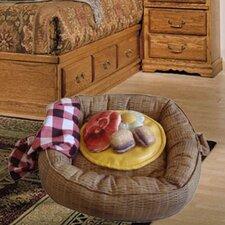 Picnic Basket Donut Dog Bed and Toys Set