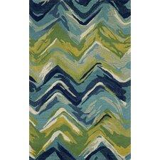 Terrill Chevron Blue/Green Indoor/Outdoor Area Rug