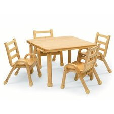 "NaturalWood 30"" Square Toddler Table and Chair Set"