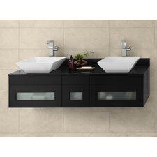 "Morrison 23"" Wall Mount Bathroom Vanity Base Cabinet in Black"