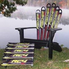 Fischer Ski Adirondack Chair and Ottoman
