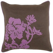 Fringed in Floral Throw Pillow