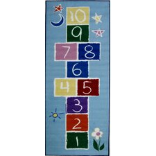 Fun Time Primary Hopscotch Kids Rug