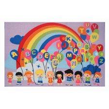Fun Time Educational Balloons Kids Rug