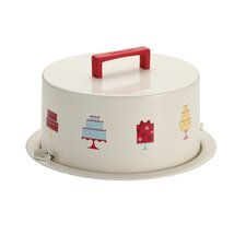 38cm Tin plated Steel Cake Carrier
