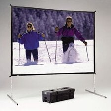"""Fast Fold Deluxe Black 90"""" H x 120"""" W Portable Projection Screen"""