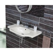 "Yeni Klasik Ceramic 26"" Wall Mounted Bathroom Sink with Overflow"