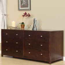 Parkrose 6 Drawer Standard Dresser