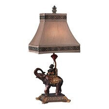 "Monkey on Elephant Accent 23.5"" Table Lamp"