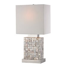 "Mother of Pearl Mini 17"" Table Lamp"