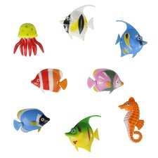 8 Piece Artificial Tropical Fish Set