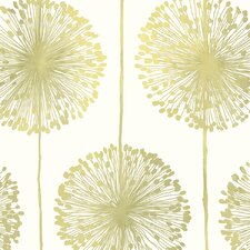 Dandelion 10m L x 53cm W Floral and Botanical Roll Wallpaper