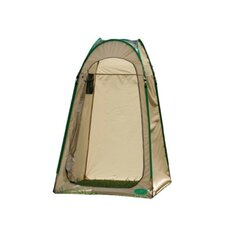 Hilo Hut Privacy Shelter in Tan / Hunter Green