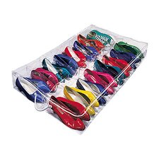 Clear Vinyl Storage 16 Compartment Underbed Shoe Chest