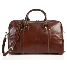 "Milano 18"" Italian Leather Weekender Duffel"