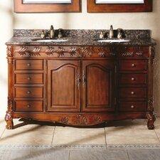"""Classico 60"""" Double Cherry Bathroom Vanity Set"""
