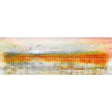 'Linear Birds' by Parvez Taj Painting Print on Wrapped Canvas