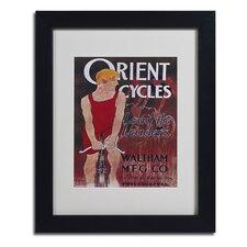 """Apple """"Bike 42"""" Framed Vintage Advertisement"""
