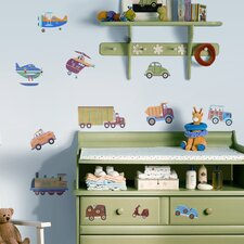 Studio Designs 26 Piece Transportation Wall Decal