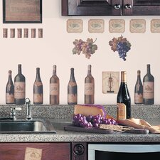 Room Mates Deco 56 Piece Wine Tasting Wall Decal