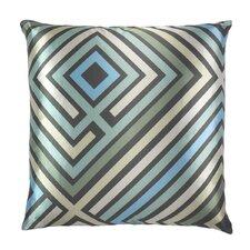 Maze Graphic Zig Zag Satin Throw Pillow