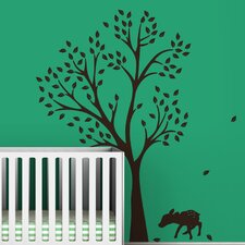 Trees Monochromatic Fawn Wall Decal