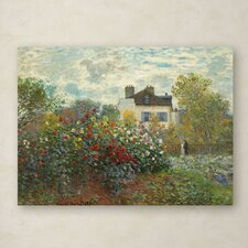 """""""The Artist's Garden In Argenteuil"""" by Claude Monet Painting Print on Wrapped Canvas"""