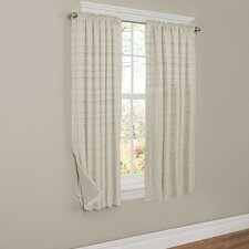 Francesca Striped Blackout Thermal Rod pocket Single Curtain Panel