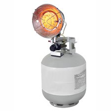 15,000 BTU Portable Propane Radiant Tank Top Heater with Tip Over Safety Switch